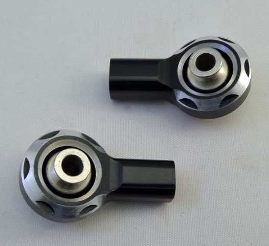 Baja Front Tie Rod Ends Alloy Black Stealth by F5M