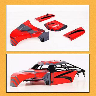 FT Body Panels Poly Carb. for 5T SC Roll Cage Kraken Style Cage