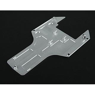 5B Rear Lower Chassis Skid Plate / UnderGuard  CNC Alloy Silver