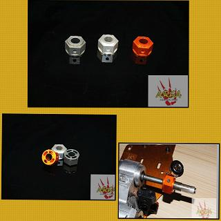 Brake Hex Hub Billet Area RC Orange BJ051