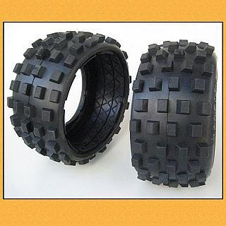 5B Baja Big Digger Knobby Tyres Rear HD ribbed tyres 5B SS