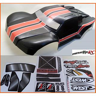 SC Body BLACK RED & Sticker pack Poly Carbonate  Scorpion SC