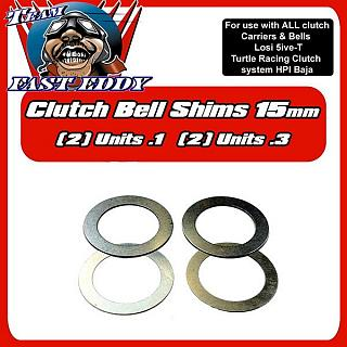 Clutch Shims Losi 5ive T 15mm & TR Clutch Baja by Team FastEddy