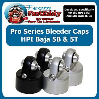 Baja Bleeder Shock Cap (2) Silver by TFE